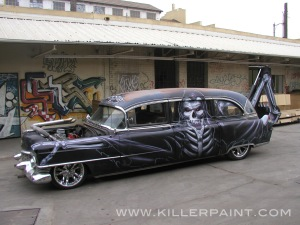 Gravedigger Hearse Side View