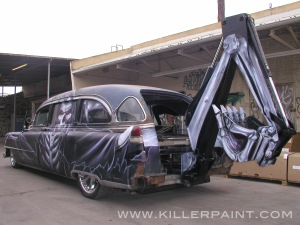 Gravedigger Hearse Back View