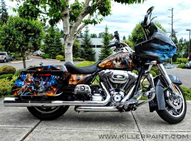 AC/DC Harley-Davidson by Mike Lavallee of Killer Paint