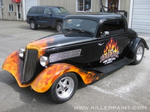 Rock Pizza 1934 Ford Coupe by Mike Lavallee of Killer Paint
